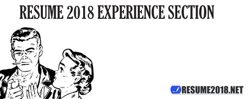 resume 2018 experience section