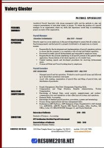 Resume Sample 2018
