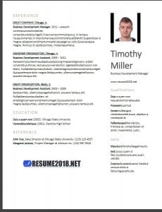 Resume examples 2018