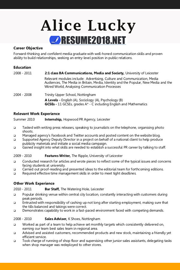 resume template guide for 2018  u0026gt  latest updates