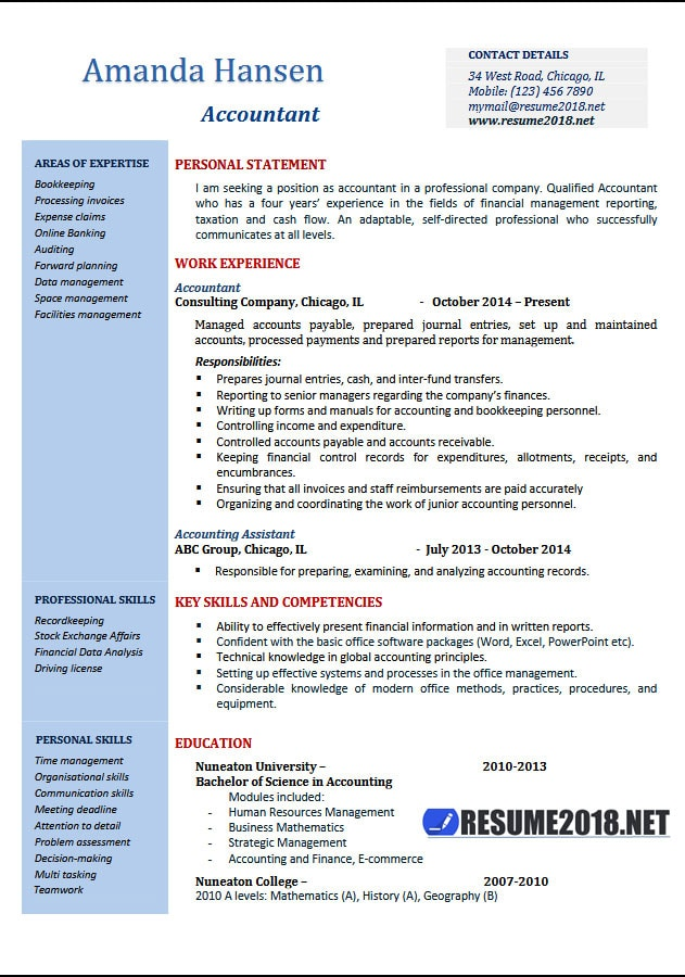 Accountant Resume Examples 2018 Resume 2018