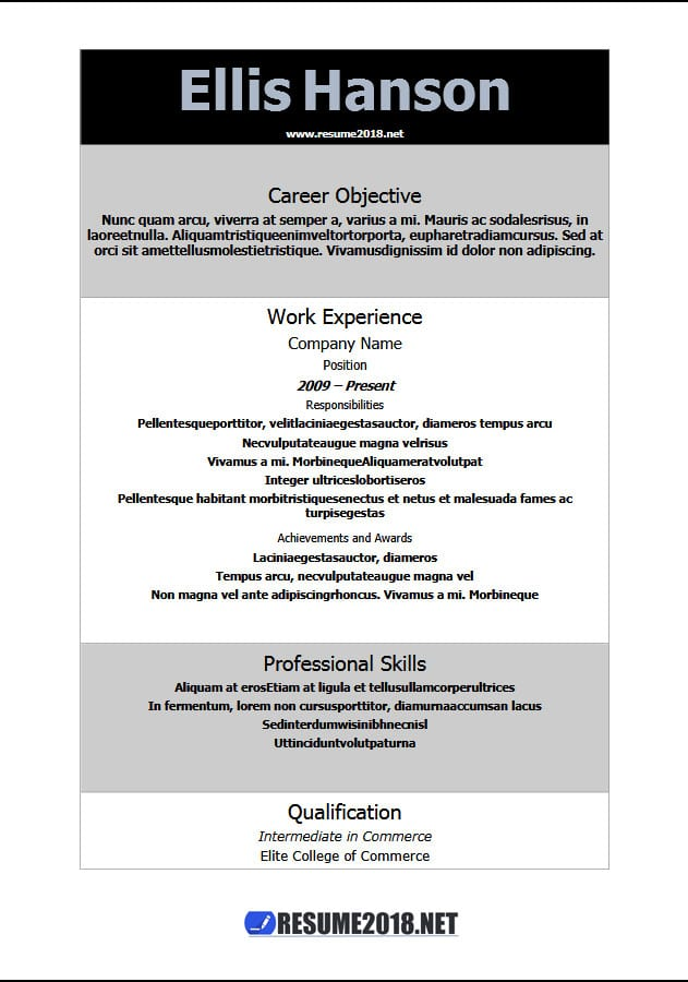 Latest Resume Templates 2018   100+ resume examples in Word